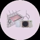 ヒートポンプ式温水床暖房システム