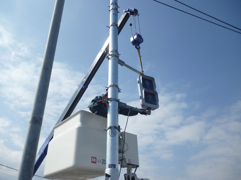 信号機設備工事